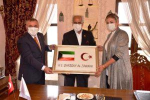 Kuveyt'in Ankara Büyükelçisi Başkan Şahin'i Ziyaret etti