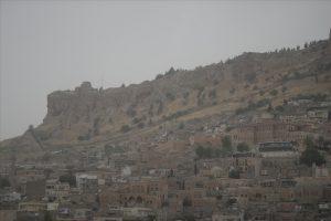 Mardin'de toz bulutu
