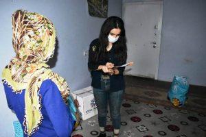 Belediyeden Evi Yanan Aileye yardım