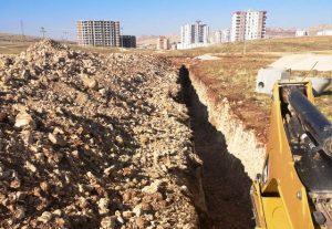 Mardin Büyükşehir Belediyesinin alt yapı çalışması hızla sürüyor