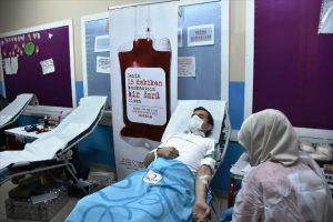 Kaymakam Temizkan kan bağış kampanyasına destek verdi