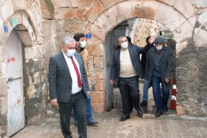 Başkan Şahin Göreme Belediye Başkanı Ömer Eren'i ağırladı