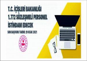 T.C. İçişleri Bakanlığı Sözleşmeli Personel Alacak