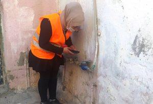 MARSU'da görevli kadın personel sayaç da okuyor