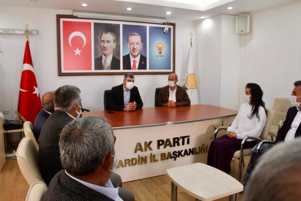 AK Parti Mazıdağı Teşkilatı'ndan İl  Başkanı Kılıç'a Hayırlı Olsun Ziyareti
