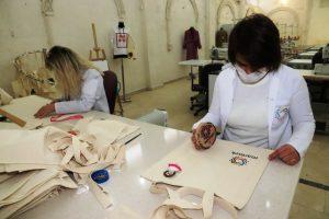 MARMEK'ten Bez Çanta Üretimi
