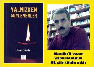 Mardin'li yazar Sami Demir'in ilk şiir kitabı çıktı…