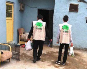 Umut Kervanı Yeşilli'de Gıda paketi dağıttı