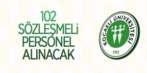 Kocaeli Üniversitesi sözleşmeli personel alacak