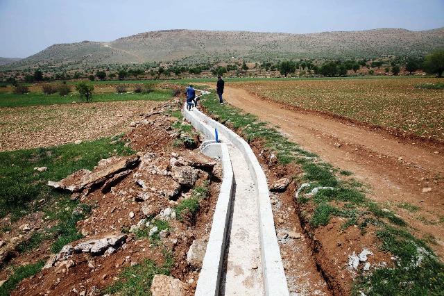 Tarımsal Sulama Kanalı Projesi'nin  çalışmaları başladı