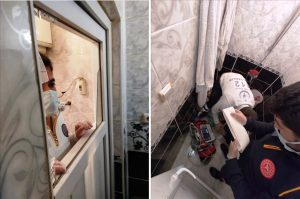 Bir kadın evinin  banyosunda  ölü bulundu