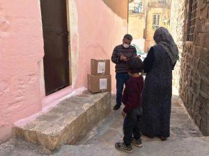 Vatandaşlara Gıda Kolisi Dağıtıldı
