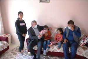 Midyat Belediyesi engelli baba ve ailesine sahip çıktı
