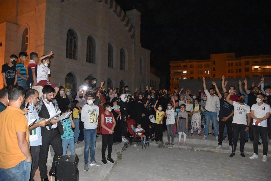 Gazze ve Mescid-i Aksa'ya yönelik saldırılar Nusaybin'de protesto edildi