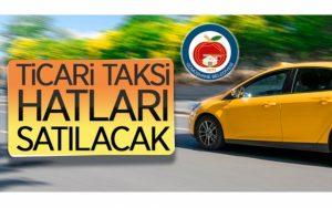 14 adet Ticari taksi (T) hattı ihale ile satılacak