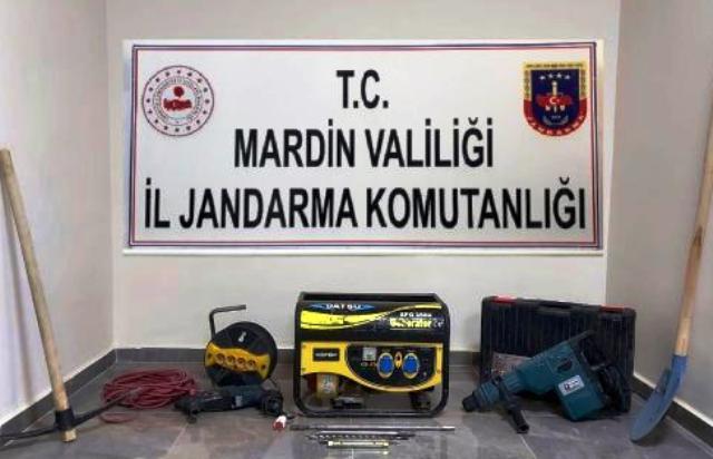 İzinsiz kazı yaptıkları iddiasıyla 7 şüpheli yakalandı