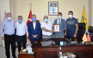 MTDF'den PTT Mardin Baş  Müdürü Karaboğa'ya Teşekkür
