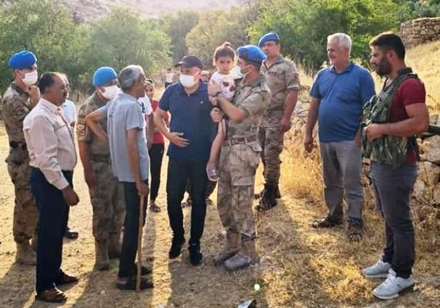 Kaybolan 3 yaşındaki Hazal'ı Mehmetçik buldu